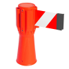 Traffic Cone Retractable Belt Barrier - Orange