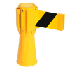 Traffic Cone Retractable Belt Barrier - Yellow