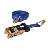Rubber-Handled Ratchet Strap J-Hook Rated 750kg