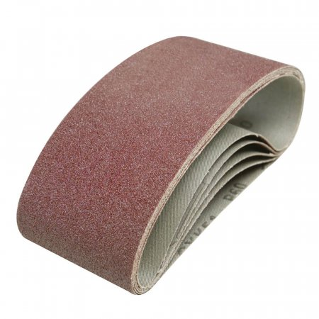 Sanding Belts, 60 Grit - Fits All 75 x 457mm Belt Sanders - 5 Pack