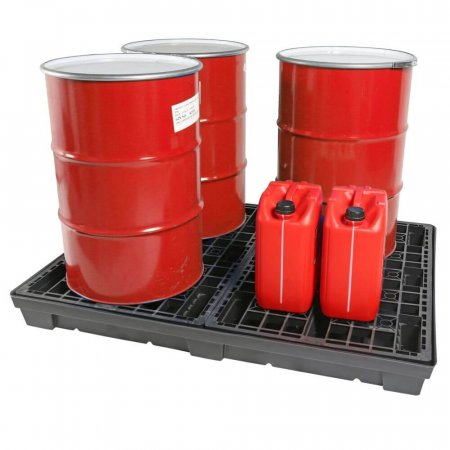 4 Drum Recycled Spill Pallet, 250 Litres Sump Capacity