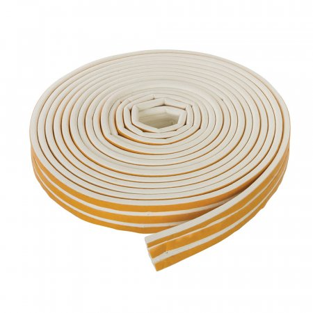 White Self Adhesive P-Profile Draught Exclusion Tape