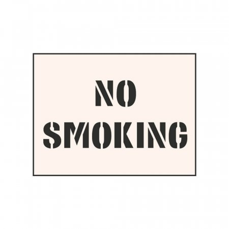 NO SMOKING - Tough Reusable Industrial Stencil