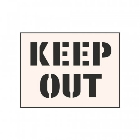 KEEP OUT - Industrial Stencil