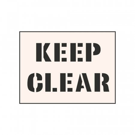 KEEP CLEAR - Industrial Stencil