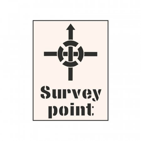 SURVEY POINT - Industrial Stencil