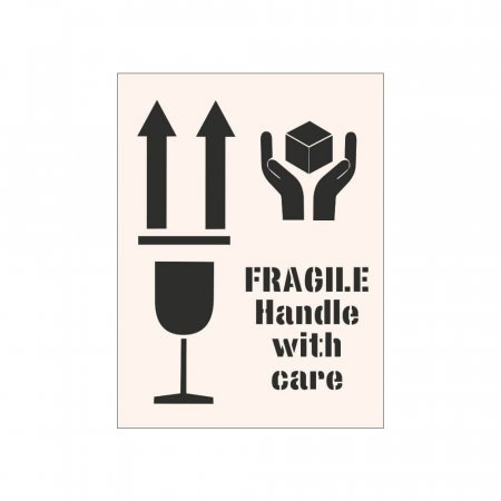 FRAGILE HANDLE WITH CARE - Industrial Stencil