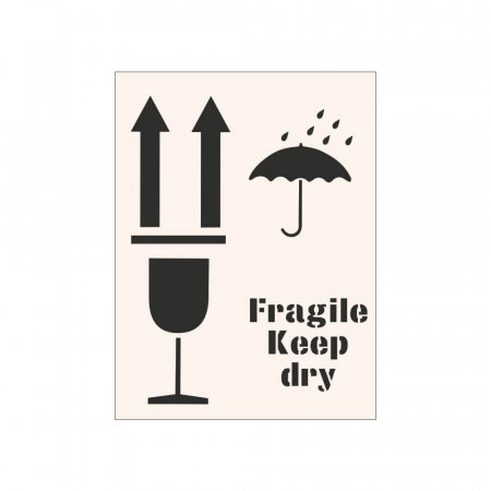 FRAGILE KEEP DRY - Industrial Stencil