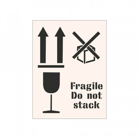 FRAGILE DO NOT STACK - Industrial Stencil
