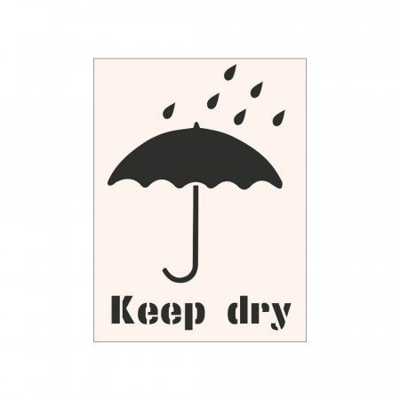KEEP DRY - Industrial Stencil