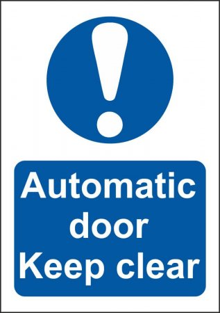 Automatic Door Keep Clear Signs