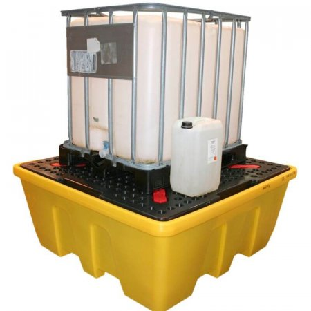 IBC Spill Pallet - Removable Deck - Stackable - 1260 Ltr Sump