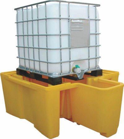 IBC Spill Pallet - Integral Dispensing Well, 1100 Litres Capacity