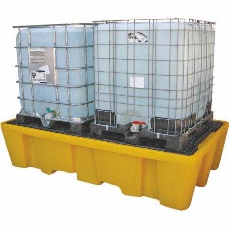IBC Twin Spill Pallet - Removable Deck -  1100 Ltr Sump
