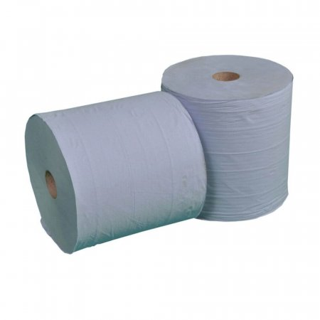 Pack of 2 Blue 2-Ply 1000 Sheet Paper Roll - T0001