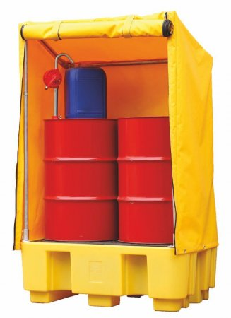 2 Drum Spillpallet With Cover, Sump Capacity of 250 Litres