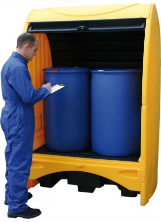 2 Drum Hardcover Spillpallet, Sump Capacity of 250 Litres