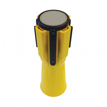 Traffic Cone Retractable Belt Barrier - Yellow - Formation