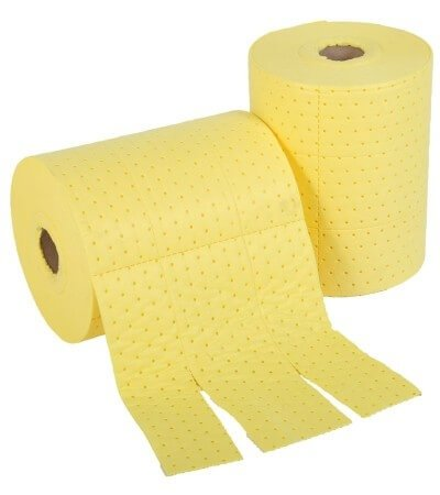 Chemical Spill Absorbent Rolls