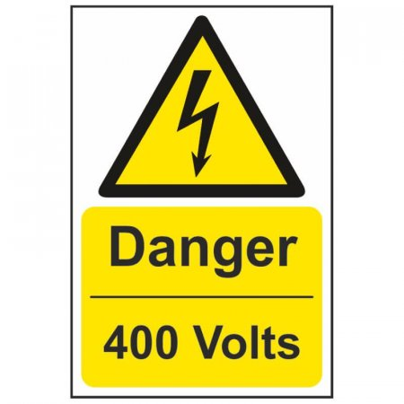 Danger 400 Volts Warning Sign