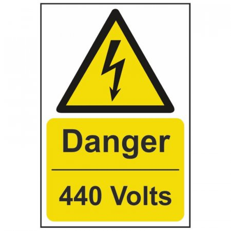 Danger 440 Volts Warning Sign