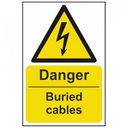 Danger Buried Cables Warning Sign