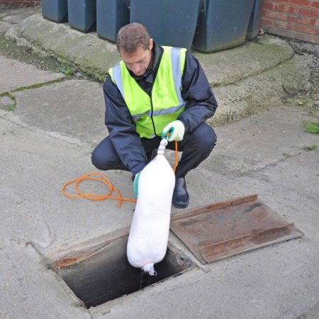 Drain Booms in Use