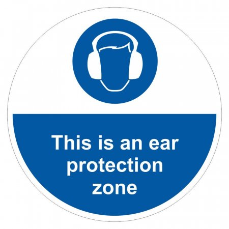 Ear Protection Must Be Worn Sign Floor Graphic