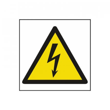 Electrical Hazard Symbol Warning Sign