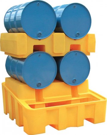 4 Barrel Drum Stacker System With 450L Sump Capacity