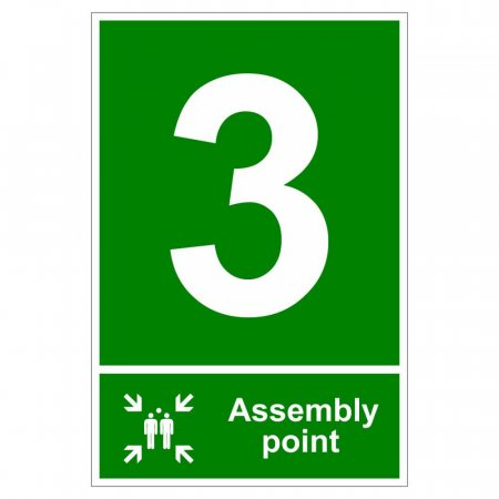 Fire Assembly Point Signs - Number 3