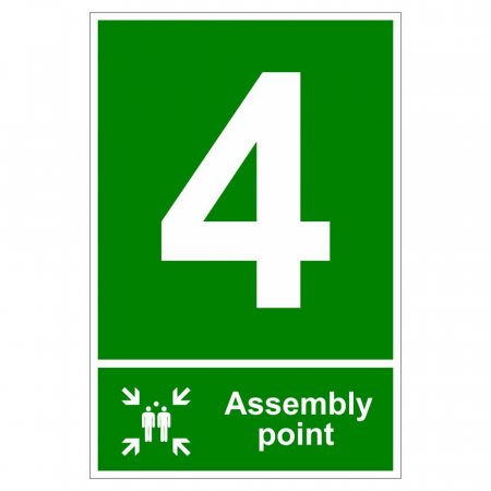 Fire Assembly Point Signs - Number 4