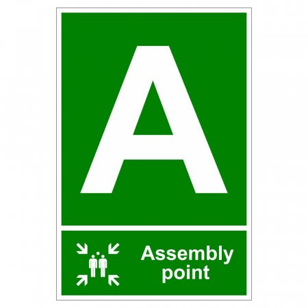 Fire Assembly Point Signs - Letter A