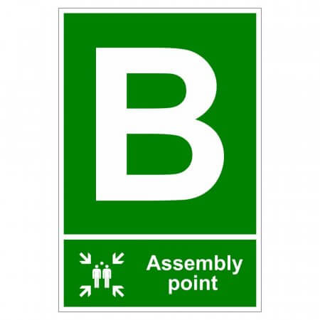 Fire Assembly Point Signs - Letter B