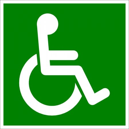 Fire Safety Sign - Disabled Symbol