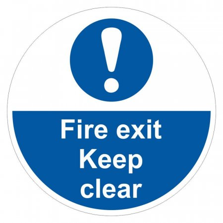 Fire Exit Keep Clear Sign Floor Graphic