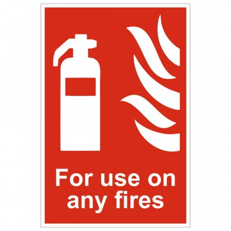 For Use On Any Fires Extinguisher Sign
