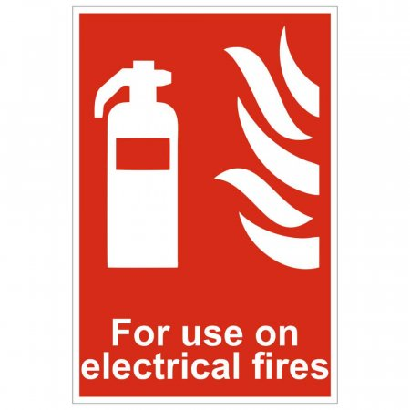 For Use On Electrical Fires Extinguisher Sign