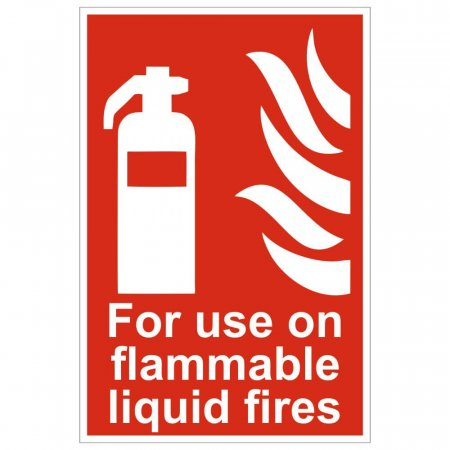 For Use On Flammable Fires Extinguisher Sign