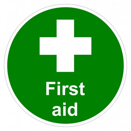 First Aid Floor Sign