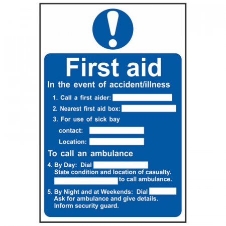 First Aid Notice
