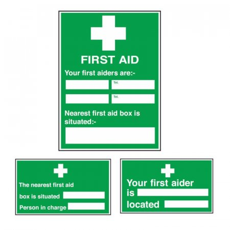 First Aider Signs