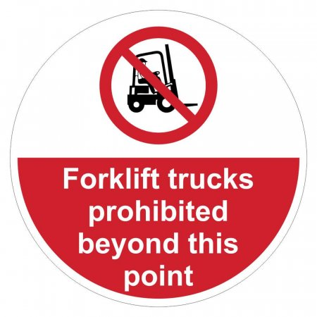 Forklift Trucks Prohibited Floor Graphics