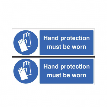 Hand Protection Must Be Worn Signs