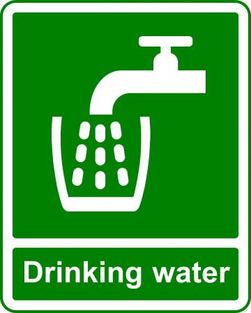Drinking Water - Safe Condition Sign