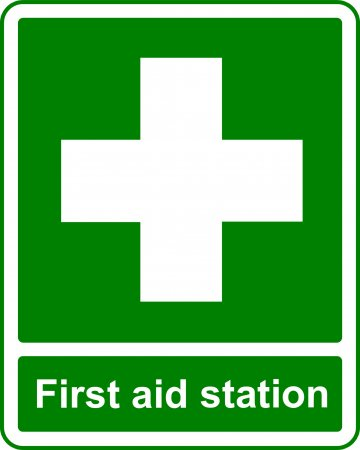 First Aid Station - Safe Condition Sign