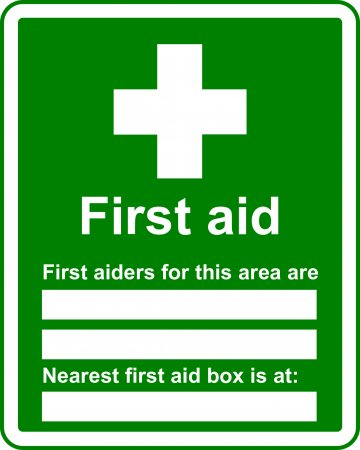 First Aid Location - Safe Condition Sign