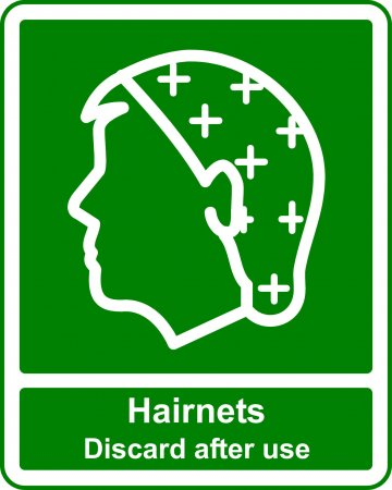 Hairnets - Safe Condition Sign