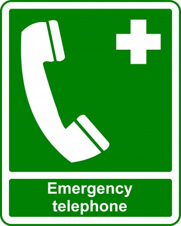 Emergency Telephone - Safe Condition Sign