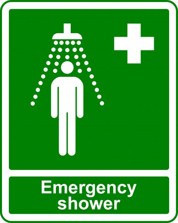 Emergency Shower - Safe Condition Sign